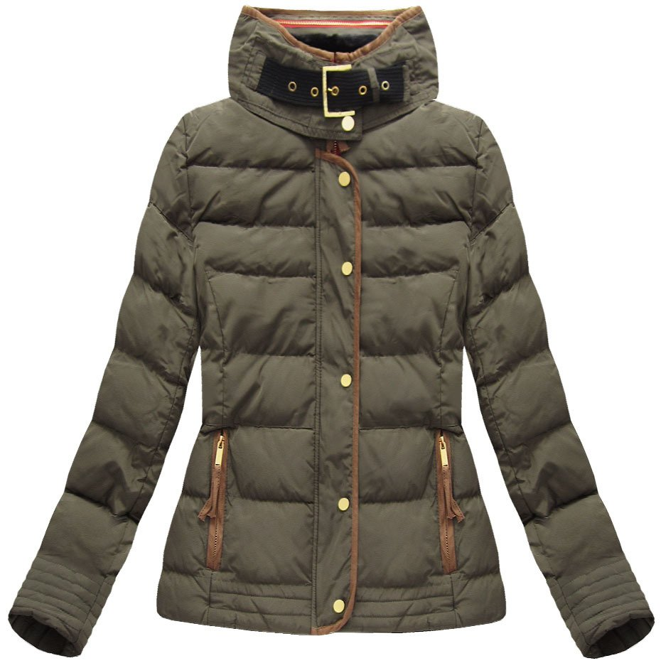 purchase cheap 6586f 8ee6d STEPPJACKE MIT KAPUZE KHAKI (WZ6636)