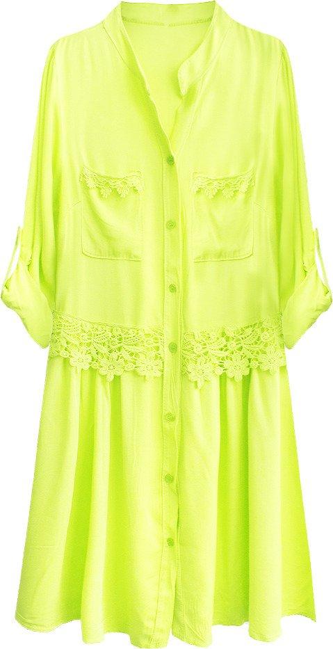 Baumwolle Kleid Neon Gelb 307art Gelb Damen Kleider Goodlookin De