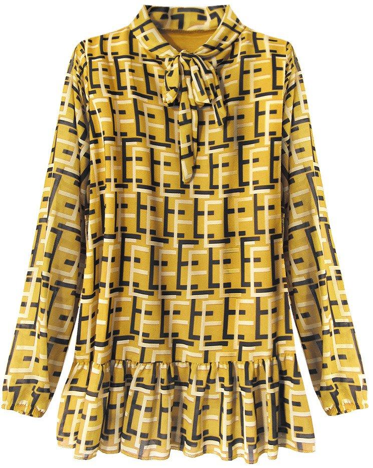 Chiffon Kleid Senf 236art Gelb Damen Blusen Und T Shirts Goodlookin De