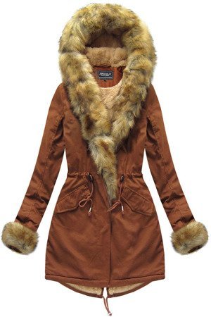 huge selection of 45436 96a54 BAUMWOLLE PARKA MIT FELL KARAMELL (XW793X)